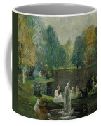 Frog Pond In Boston Public Gardens Coffee Mug