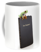 Frog Sitting On A Bible Coffee Mug
