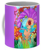 Frog Under A Mushroom Coffee Mug
