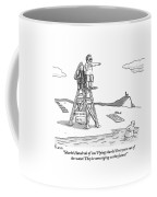 From Atop His Chair Coffee Mug by Zachary Kanin