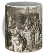 From Hand To Mouth, Engraved By J.m Coffee Mug