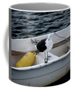 From Rockport Ma A Seagull Chilling Out In A Rowboat Coffee Mug