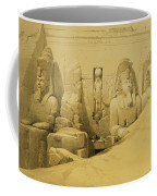 Front Elevation Of The Great Temple Of Aboo Simbel Coffee Mug by David Roberts