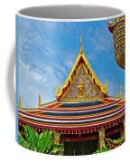 Front Of Royal Temple At Grand Palace Of Thailand In Bangkok Coffee Mug