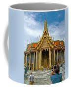 Front Of Thai-khmer Pagoda At Grand Palace Of Thailand In Bangkok Coffee Mug