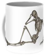 Front View Of A Human Skeleton Posing Coffee Mug