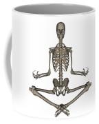 Front View Of Human Skeleton Meditating Coffee Mug