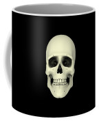 Front View Of Human Skull Coffee Mug