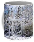 Front Yard Of A House In Winter Coffee Mug