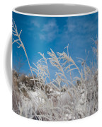 Frost Covered Grasses Against The Sky Coffee Mug