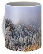 Frost On Cat's Feet Came Coffee Mug