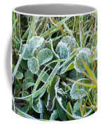 Frost On Strawberry Leaves Coffee Mug