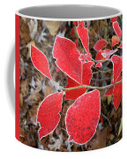 Frosted Blueberry Leaves Coffee Mug