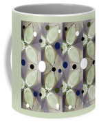 Frosted Green Flower Coffee Mug