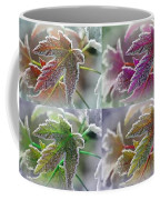 Frosted Maple Leaves In Warm Shades Coffee Mug