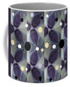 Frosted Purple Flower Coffee Mug