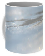 Frosted Silver Abstract Coffee Mug