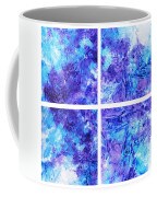 Frosted Window Abstract Collage Coffee Mug