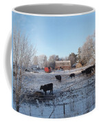 Frosty Barnyard Coffee Mug