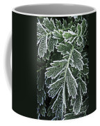 Frosty Leaves Macro Coffee Mug