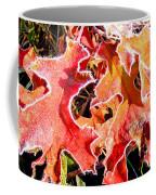 Frosty Oak Leaves Coffee Mug
