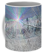 Frosty Window Distant Sun Coffee Mug