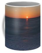 Frozen Bay Sunset Jersey Shore Coffee Mug
