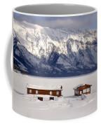 Lake Minnewanka, Alberta - Banff - Frozen Docks Coffee Mug