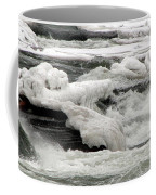 Frozen Niagara River Rapids Above Niagara Falls Coffee Mug