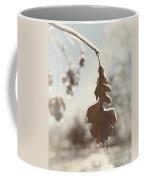 Frozen Oak Leaf Abstract Nature Detail Coffee Mug