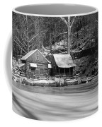Frozen Pond In Black And White Coffee Mug