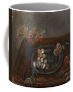 Fruit And Flowers On A Table Coffee Mug