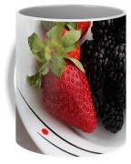 Fruit II - Strawberries - Blackberries Coffee Mug by Barbara Griffin