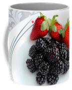 Fruit Iv - Strawberries - Blackberries Coffee Mug