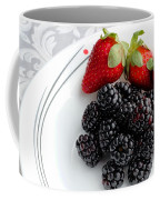 Fruit V - Strawberries - Blackberries Coffee Mug