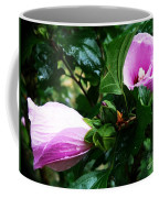 Fuchsia Flowers Laced In Droplets Coffee Mug