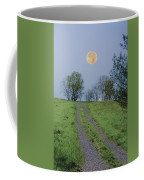 Full Moon And A Country Road Coffee Mug