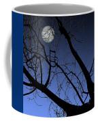 Full Moon And Black Winter Tree Coffee Mug