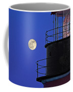 Full Moon And West Quoddy Head Lighthouse Beacon Coffee Mug