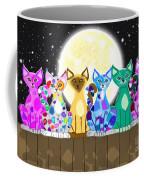 Full Moon Felines Coffee Mug