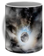 Full Moon  In Stormy Sky Coffee Mug