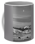 Full Moon On The Co Front Range Bw Coffee Mug