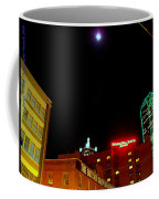 Full Moon Over Dallas Streets Coffee Mug
