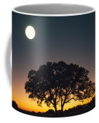 Full Moon Over Silhouetted Tree Coffee Mug