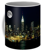 Full Moon Rising - New York City Coffee Mug