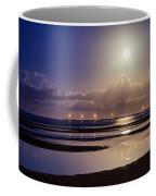 Full Moon Rising Over Sandgate Pier Coffee Mug