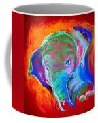 Funky Baby Elephant Blue Coffee Mug