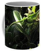 Fractal Nature South Carolina Green Lizard Coffee Mug