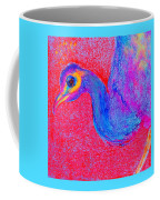 Funky Peacock Bird Art Prints Coffee Mug