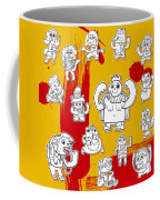 Funny Doodle Characters Urban Art Coffee Mug
